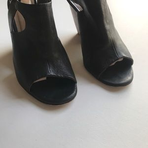 COCLICO Shoes - COCLICO Heel Bootie Sandal Wedge Peep Toe Leather